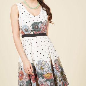 ModCloth Flair And Back A Line Dress 2X